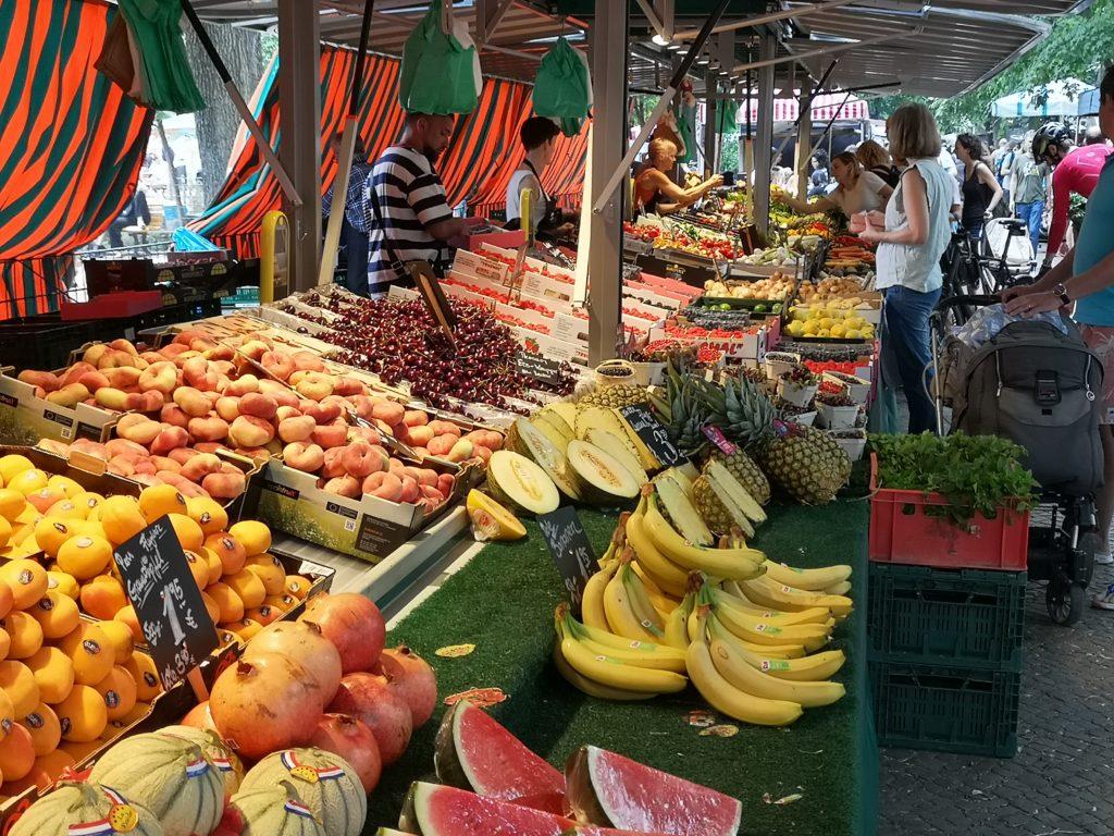 Wochenmarkt Farmers Market Boxhagener Platz